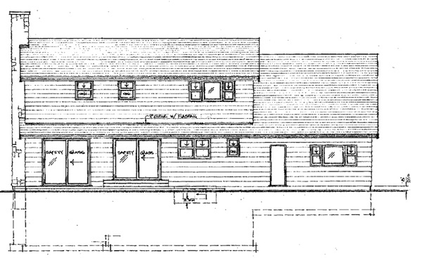 Cape Cod House Plan 55143 Rear Elevation