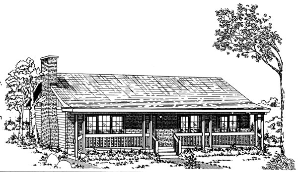 Ranch House Plan 55146 Elevation