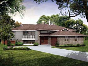 Contemporary House Plan 55147 Elevation