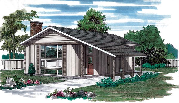 Contemporary House Plan 55148 Elevation