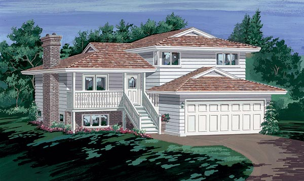 European House Plan 55149 Elevation