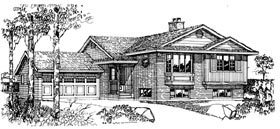 Traditional House Plan 55151 Elevation