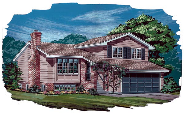 Traditional House Plan 55154 Elevation