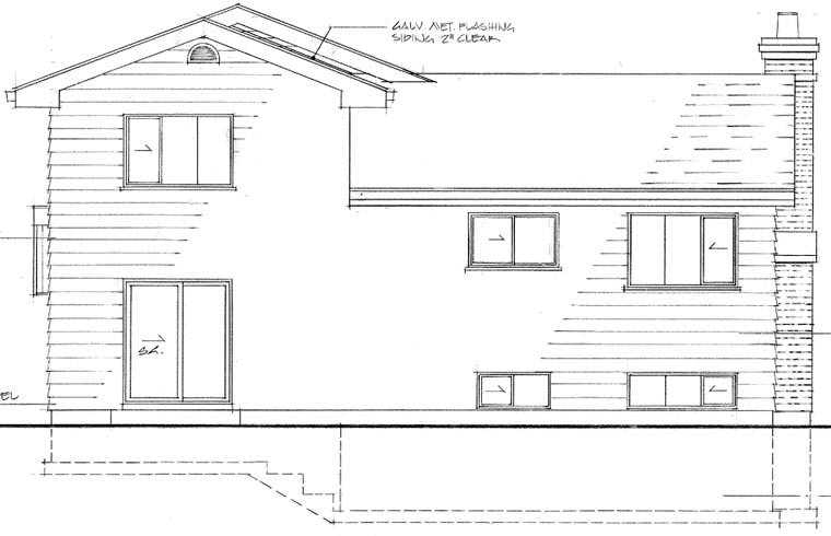 Traditional House Plan 55154 Rear Elevation