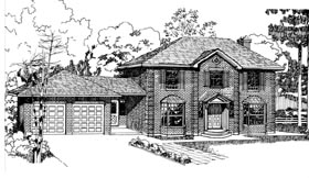 Colonial House Plan 55156 Elevation