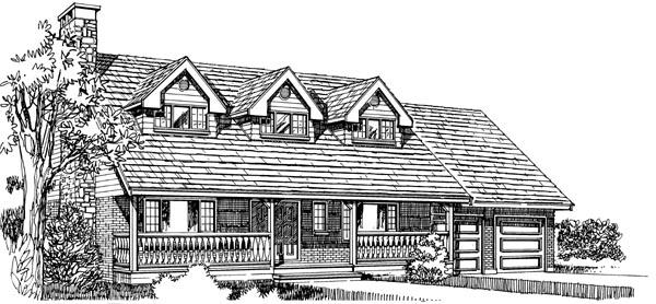 Cape Cod House Plan 55157 Elevation