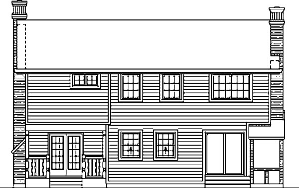 Country House Plan 55158 Rear Elevation