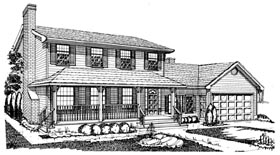Country House Plan 55159 Elevation