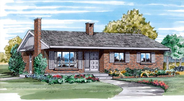Ranch House Plan 55161 Elevation