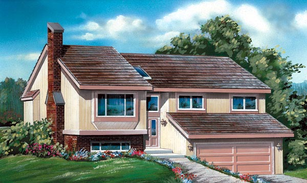 Contemporary House Plan 55162 Elevation