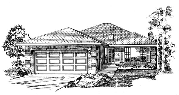 Traditional House Plan 55163 Elevation