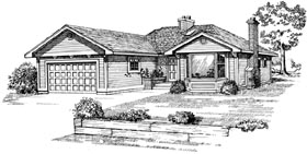 Contemporary House Plan 55164 Elevation