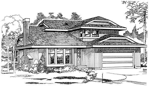Contemporary House Plan 55165 Elevation