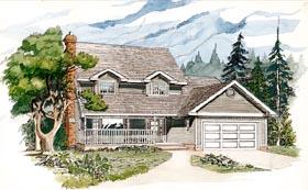 Cape Cod House Plan 55166 with 4 Beds, 3 Baths, 2 Car Garage Elevation