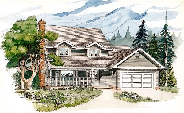 Cape Cod House Plan 55166 Elevation
