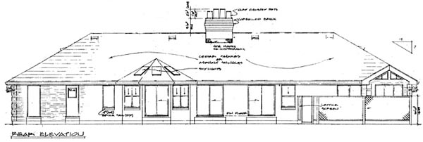 Ranch House Plan 55168 Rear Elevation
