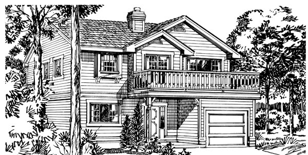 Traditional House Plan 55170 Elevation