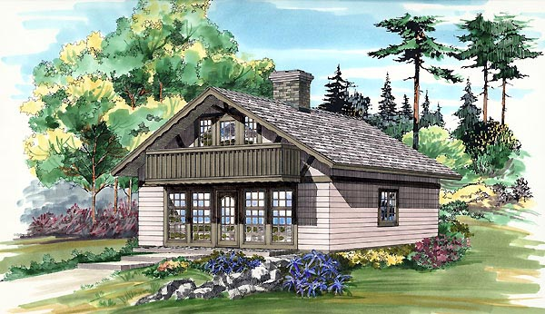 House Plan 55173 Elevation
