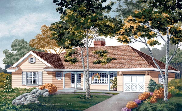 Traditional House Plan 55175 Elevation