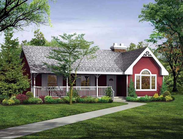 Ranch House Plan 55176 Elevation