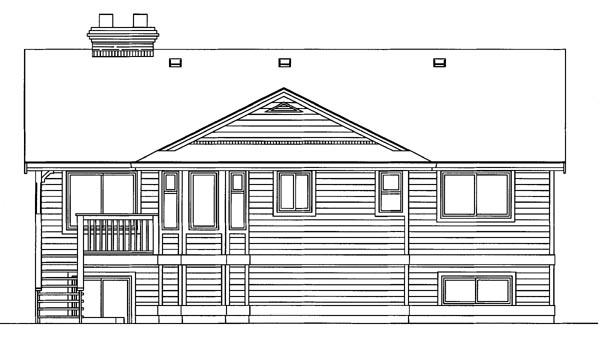 Ranch House Plan 55176 Rear Elevation