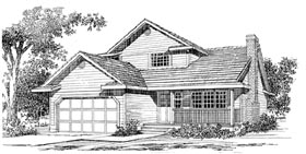 Traditional House Plan 55177 Elevation
