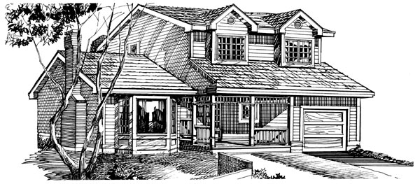 Cape Cod House Plan 55179 Elevation