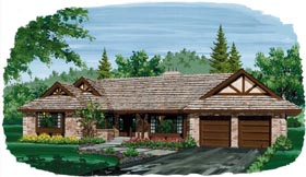 Ranch House Plan 55180 Elevation
