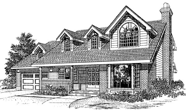Cape Cod House Plan 55181 Elevation