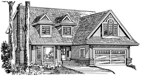 House Plan 55182 | Cape Cod Style Plan with 2262 Sq Ft, 4 Bedrooms, 3 Bathrooms, 2 Car Garage Elevation