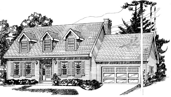 Cape Cod House Plan 55183 Elevation