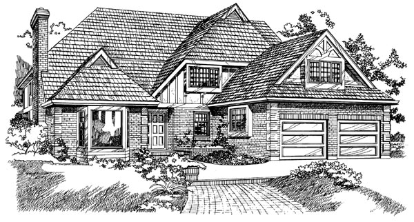 Traditional House Plan 55184 Elevation