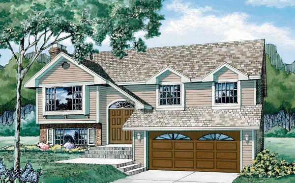 Traditional House Plan 55186 Elevation