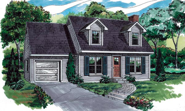 Cape Cod House Plan 55190 Elevation