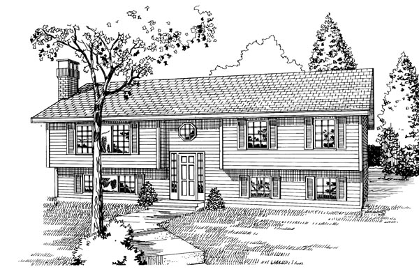 Contemporary House Plan 55191 Elevation