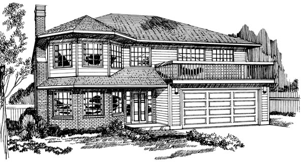 Contemporary House Plan 55193 Elevation