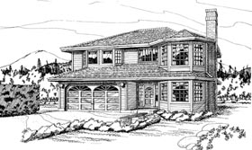 Contemporary House Plan 55194 Elevation