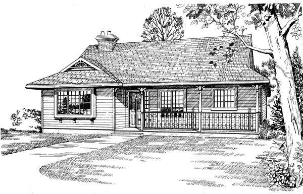 Ranch House Plan 55196 Elevation