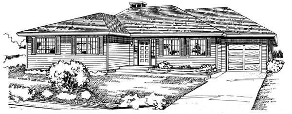 Traditional House Plan 55197 Elevation