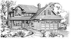 Traditional House Plan 55199 Elevation