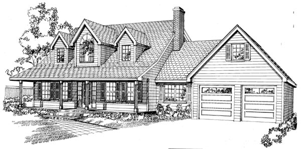 Cape Cod House Plan 55200 Elevation