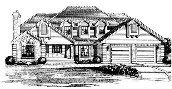 Traditional House Plan 55202 Elevation