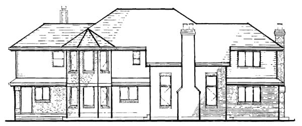 Traditional House Plan 55202 Rear Elevation