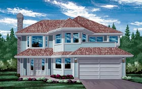 Contemporary House Plan 55203 Elevation