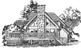 Contemporary House Plan 55204 Elevation