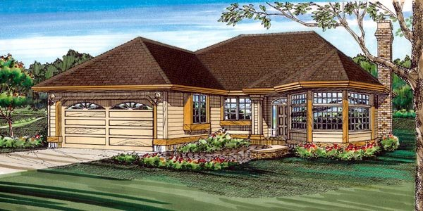 Traditional House Plan 55205 Elevation