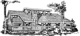 Contemporary House Plan 55206 Elevation