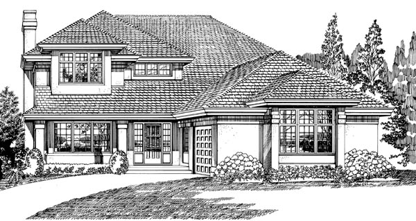 Traditional House Plan 55207 Elevation