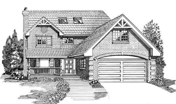 Traditional House Plan 55209 Elevation