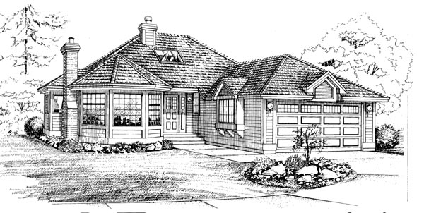 Traditional House Plan 55212 Elevation